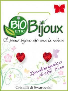 Farma Bijoux  Σκουλαρίκια Κόκκινη Καρδιά 6mm, 1 Ζευγάρι