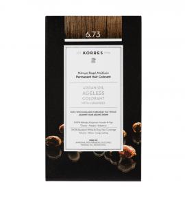Korres Argan Oil Ageless Colorant Μόνιμη Βαφή Μαλλιών 6.73 Χρυσό Κακάο 50ml