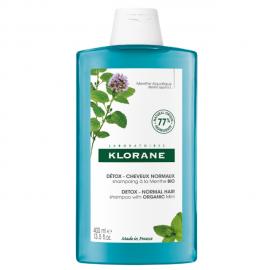 Klorane Aquatic Mint Σαμπουάν Αποτοξίνωσης από την Ρύπανση με Υδάτινη Μέντα BIO (400ml)