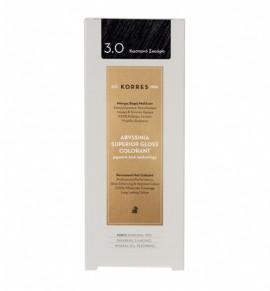 Kores Abyssinia Superior Gloss Colorant Μόνιμη Βαφή Μαλλιών 3.0 Σκούρο Καστανό 50ml