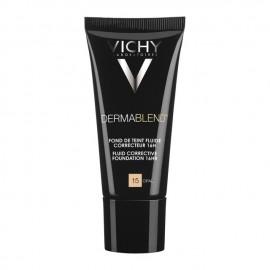 Vichy Dermablend Fluid Corrective Foundation SPF35 Opal No.15 Διορθωτικό Make up 16 ωρών με εύπλαστη υφή, 30ml