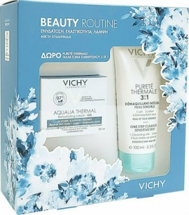 Vichy Πακέτο Προσφοράς Beauty Routine Aqualia Thermal με Rehydrating Cream-Gel Λεπτόρρευστη Κρέμα για 48ωρη ενυδάτωση για Κανονική / Μεικτή Επιδερμίδα, 50ml & Δώρο Purete Thermale 3 in 1 Γαλάκτωμα Καθαρισμού, 100ml