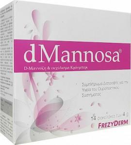Frezyderm dMannosa & Εκχύλισμα Κράνμπερι Συμπλήρωμα Διατροφής για την Υγεία του Ουροποιητικού Συστήματος, 14 φακελάκια x 4gr