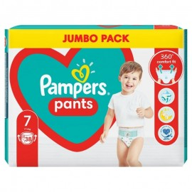 Pampers Pants Jumbo Pack Πάνες Βρακάκι No7 (17+ Kg), 38 Πάνες Βρακάκι