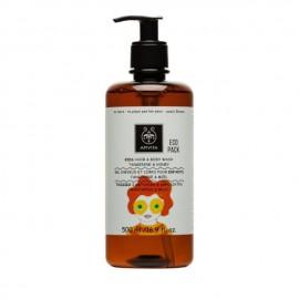 Apivita Kids Hair & Body Wash Παιδικό Σαμπουάν & Αφρόλουτρο Μανταρίνι/Μέλι, 500ml