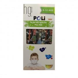 HG Poli Παιδικές Χειρουργικές Μάσκες 3 Στρώσεων για Αγόρι 9-12 Ετών Με Σχέδια 10 Τεμάχια