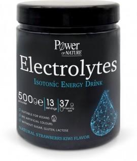Power Health Power of Nature Ισοτονικό Ρόφημα σε Σκόνη με Ηλεκτρολύτες Φράουλα-Ακτινίδιο Electrolytes Isotonic Energy Drink Strawberry-Kiwi 500gr