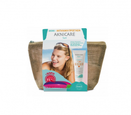 Synchroline Aknicare Sun Πακέτο Προσφοράς με Αντιηλιακή Κρέμα Προσώπου SPF30 για Ήπια έως Μέτρια Ακμή, 50ml & Δώρο Βούρτσα Dessata, 1τεμ