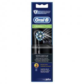 Oral-B Ανταλλακτικές Κεφαλές Cross Action Black Edition, 2τμχ