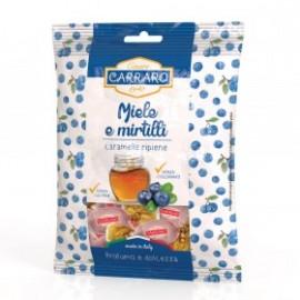 Carraro Καραμέλες για το Λαιμό με Μέλι & Μύρτιλο 100gr