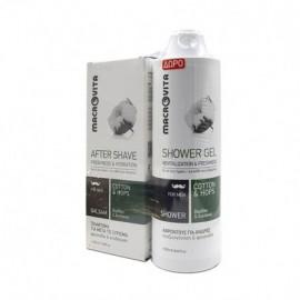 Macrovita Πακέτο Προσφοράς για Άνδρες Γαλάκτωμα για μετά το Ξύρισμα After Shave Freshness & Hydration 100ml & Δώρο  Αφροντούς Shower Gel Revitalization 250ml