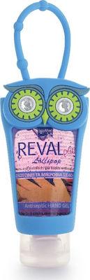 Intermed Reval Plus Antiseptic Hand Gel Lolipop Αντισηπτικό Gel χεριών Κουκουβάγια Μπλε 30ml