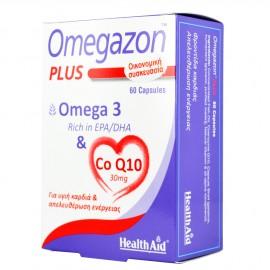 Health Aid Omegazon Plus Ω3 + CoQ10 για την Καλή Λειτουργία του Καρδιαγγειακού Συστήματος, 60caps