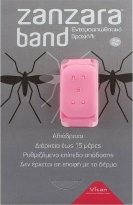 Vican Zanzara Band Εντομοαπωθητικό Βραχιόλι Σιλικόνης Ροζ Size S/M 1τμχ