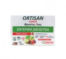 Ortis Ortisan Forte Φρούτα & Ινες, Φρουτοκύβοι για τη Δυσκοιλιότητα, 12 Φρουτοκύβοι