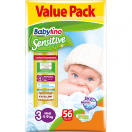 Babylino Sensitive Value Pack No3 (4-9Kg) 56τεμ