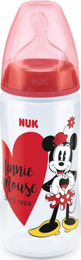 Nuk First Choice Plus Disney Minnie Mouse (10.741.828) Μπιμπερό PP 6-18 Μηνών με Θηλή Σιλικόνης, 1τμχ