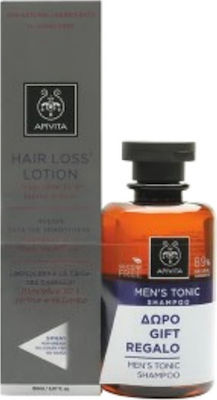 Apivita Promo Hair Loss Lotion Λοσιόν κατά της Τριχόπτωσης 150ml & ΔΩΡΟ Τονωτικό Σαμπουάν για Άνδρες 250ml