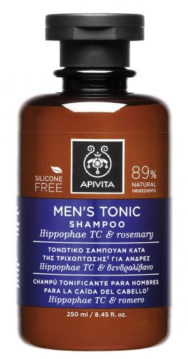 Apivita Τονωτικό Σαμπουάν Κατά της Τριχόπτωσης για Άνδρες Hippophae TC & Rosemary 250ml