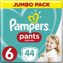 Pampers Pants Jumbo Pack Πάνες Βρακάκι No6 (15+ kg), 44 Πάνες βρακάκι