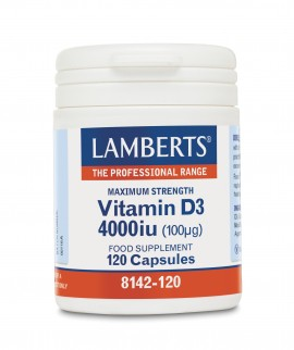 Lamberts Vitamin D3, 4000IU 120caps