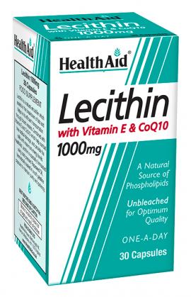 HEALTH AID LECITHIN 1000MG - CO Q10 - VITAMIN E -  30 CAPS