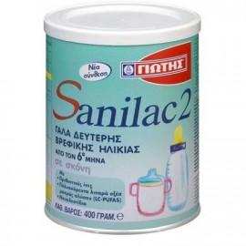 Γιώτης Sanilac 2 Γάλα Δεύτερης Βρεφικής Ηλικίας από τον 6ο μήνα (σε σκόνη), 400gr