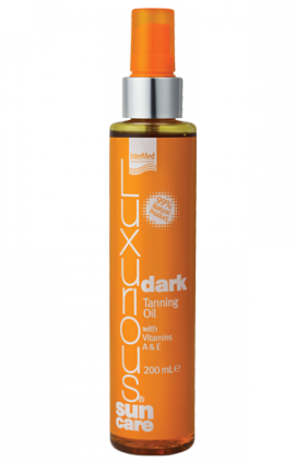 INTERMED Luxurious Sun Care Dark Tanning Oil with Vitamins A+E 200ml