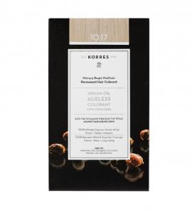 Korres Argan Oil Ageless Colorant Μόνιμη Βαφή Μαλλιών 10.17 Ξανθό Πλατίνας Μπέζ 50ml