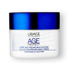 Uriage Age Protect Multi-Action Peeling Night Cream, Απολεπιστική Κρέμα Νυκτός Πολλαπλών Δράσεων, 50ml