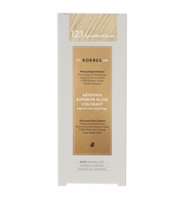 Korres Abyssinia Superior Gloss Colorant Μόνιμη Βαφή Μαλλιών 12.1 Special Blonde Σαντρέ 50ml