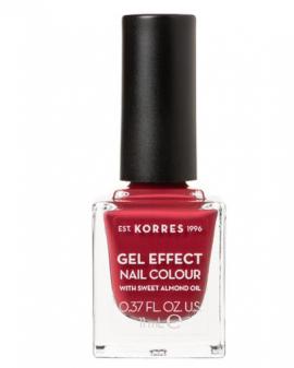 Korres Gel Effect Nail Colour Νο.52 Eternity Red Rose Βερνίκι Νυχιών, 11ml
