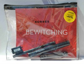 KORRES BEAUTY IN A BAG:BLACK VOLKANIC MINERALS MASCARA 01 BLACK 8ML& PROFESSIONAL KOHL EYELINER 01 BLACK 1,14GR & GUAVA LIPSTICK 1,8ML