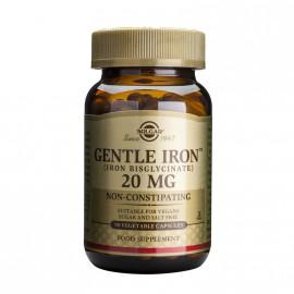 Solgar Gentle Iron 20mg Συμπλήρωμα Διατροφής Σιδήρου που Αναστέλλει τη Σιδηροπενική Αναιμία, 90veg.caps