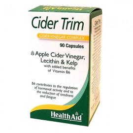 Health Aid Cider Trim Συμπλήρωμα Αδυνατίσματος με Μηλόξυδο, 90caps