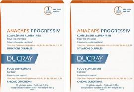 Ducray Anacaps Progressiv, Συμπλήρωμα κατά της Προοδευτικής Τριχόπτωσης, 2 x 30Caps