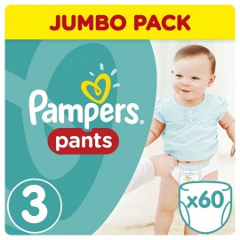 Pampers Pants Jumbo Pack Πάνες Βρακάκι No3 (6-11 Kg), 60 Πάνες Βρακάκι