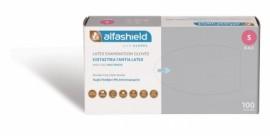 Alfashield Εξεταστικά Γάντια Latex Χωρίς Πούδρα / Small (100 τεμάχια)