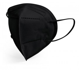Μάσκα προστασίας FFP2-/KN95 Brand Italia KARINA Χρώματος ΜΑΥΡΟ, με 4 στρώσεις CE & EN:149:2001, 1 τεμάχιο