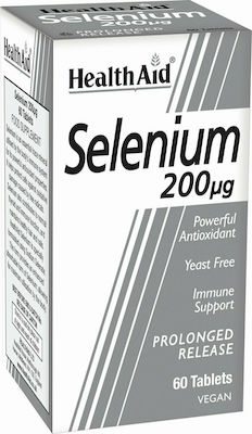 Health Aid Selenium 200μg Συμπλήρωμα Διατροφής με Σελήνιο για Αντιοξειδωτική Προστασία, 60tabs