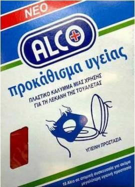Alco Προκάθισμα Υγείας μιας Χρήσης για Λεκάνη Τουαλέτας 10τμχ