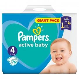 Active Baby Πάνες Μέγεθος 4 (Giant Pack) 8-14Kg 76 Πάνες
