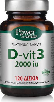 Power Health Classics Platinum Range D-Vit3 2000iu, Βιταμίνη D3 για την Ενίσχυση Ανοσοποιητικού & Μυοσκελετικού Συστήματος, 120caps
