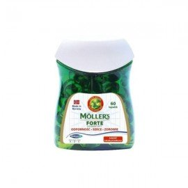 Mollers Forte Μαλακές Κάψουλες Μουρουνέλαιο Mollers, 60Κάψουλες
