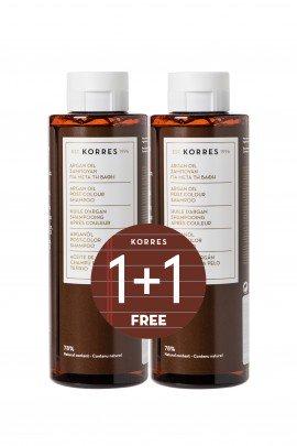 Korres Shampoo Argan Oil για μετά την Βαφή 250ml 1+1 Δώρο