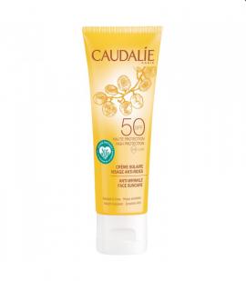Caudalie Anti-wrinkle Face Suncare SPF 50 Αντηλιακή Κρέμα Προσώπου Πολύ Υψηλής Προστασίας με Αντιγηραντική Δράση, 50ml