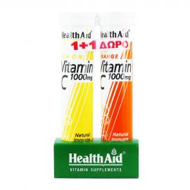 Health Aid Vitamin C 1000mg με Γεύση Λεμόνι 20tabs +  Δώρο Vitamin C 1000mg με Γεύση Πορτοκάλι 20tabs