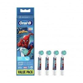 Oral-B Ανταλλακτικές Κεφαλές Παιδικές Kids Spiderman, 4 τεμ.