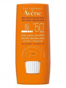 Avene Solaire Eau Thermale Stick Zones Sensibles SPF50+, Αντιηλιακό Στικ για τις ευαίσθητες εντοπισμένες ζώνες - Πρόσωπο & Σώμα, 8g