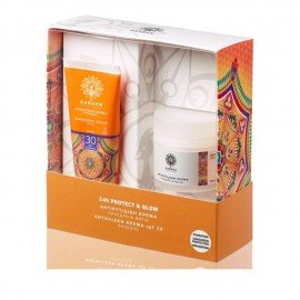 Garden Promo Pack Sunscreen 24h Protect & Glow, Αντηλιακή Κρέμα SPF30, 50ml & Αντιρυτιδική Κρέμα για Πρόσωπο και Μάτια, 50ml